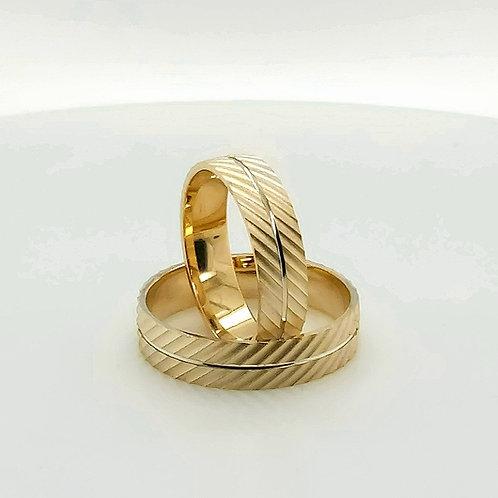 Altın Alyans Makine İşlemeli