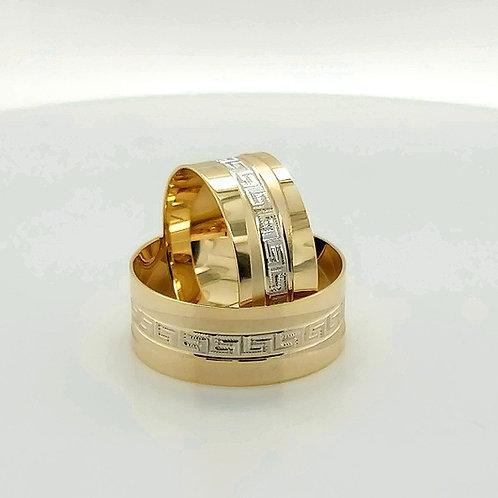 Altın Alyans Greek Desenli