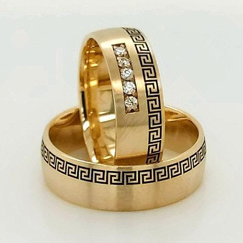 Altın Alyans Greek Desen