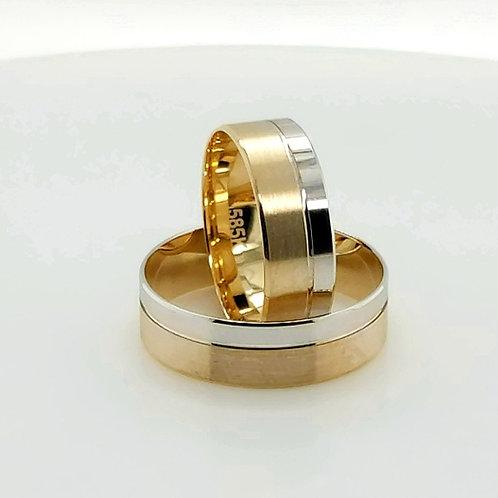 Altın Alyans Sade Çift Renk