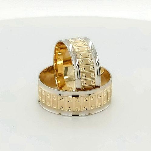 Altın Alyans Ortası Kalemli