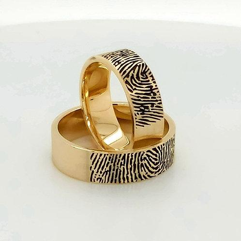 Altın Alyans Parmak İzli