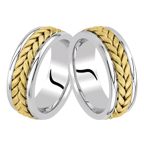 Altın Alyans Kalın Örgülü