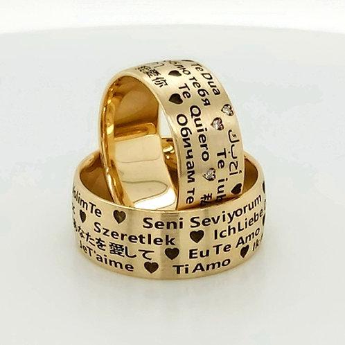 Altın Alyans Her Dilde Seni Seviyorum