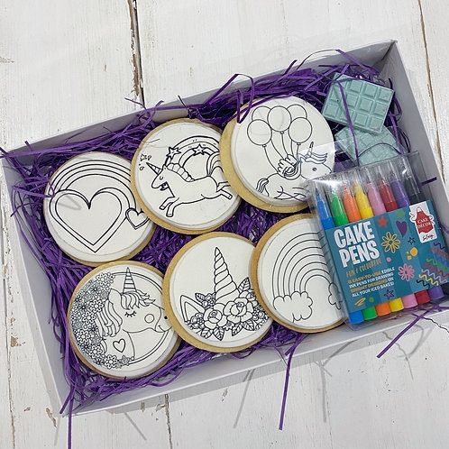 Colour In Cookie Box