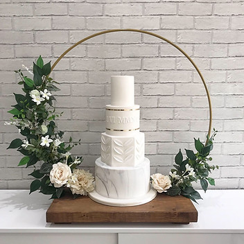 Floral Hoop Cake Stand