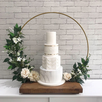 Floral Hoop Cake Stand