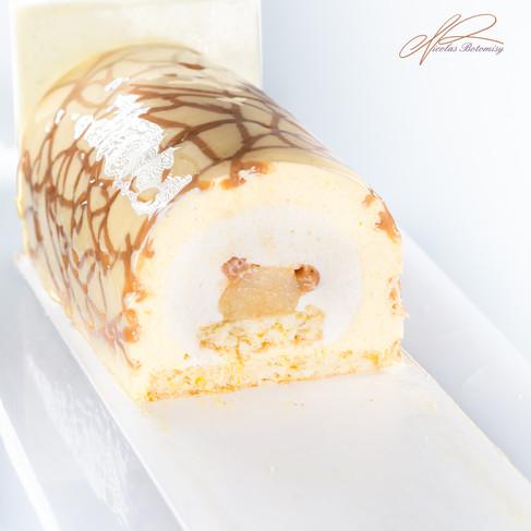 Vanilla chesnut pear yule log cut.jpg
