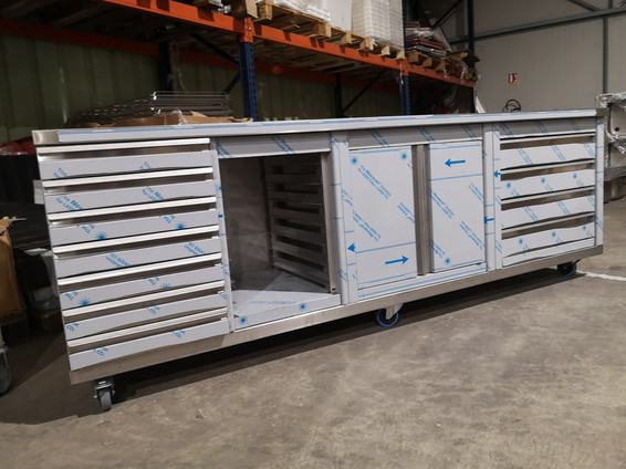 Custom made stainless furniture