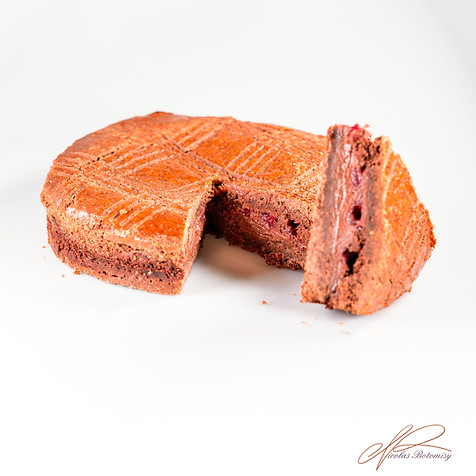 Chocolate sour cherry basque cake.jpg