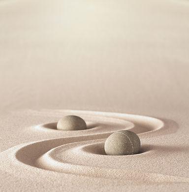 zen garden meditation stone background w