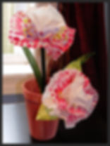 colorful coffee filter flower arrangement senior craft