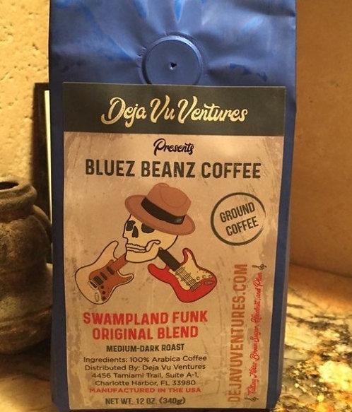 "Bluez Beanz Coffee ""Swampland Funk Original Blend"""