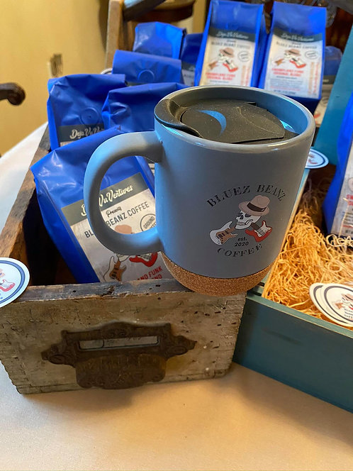 Bluez Beanz Coffee Cork Mug with Travel Lid