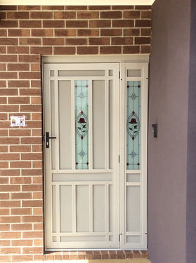 Custom Glass Security Door