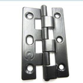 Security Screen Door Hinge Steel Fixed Pin Black