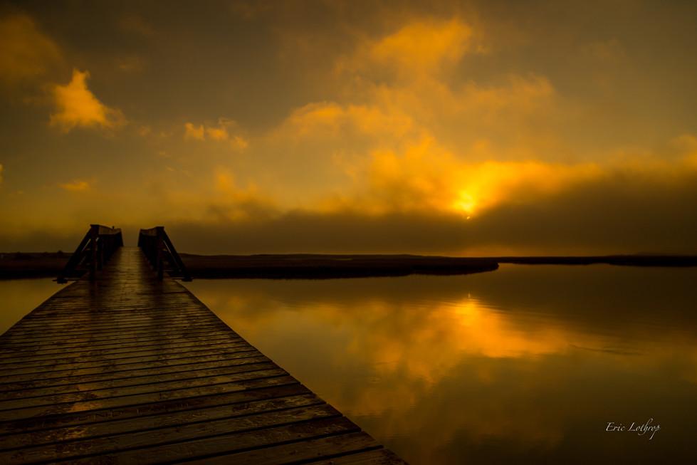 Sandwich Boardwalk Golden Sunrise