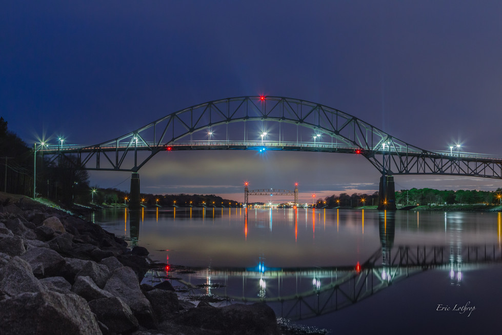 Bourne Bridge Reflection