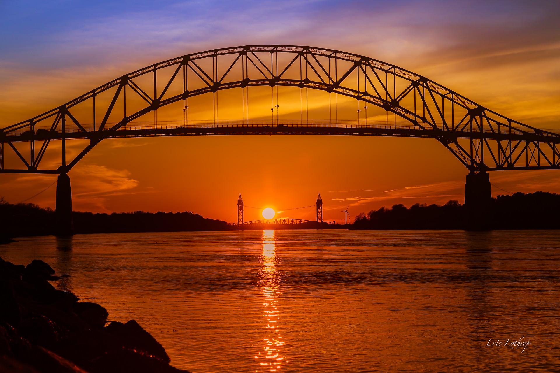 Bourne Bridge Sunset