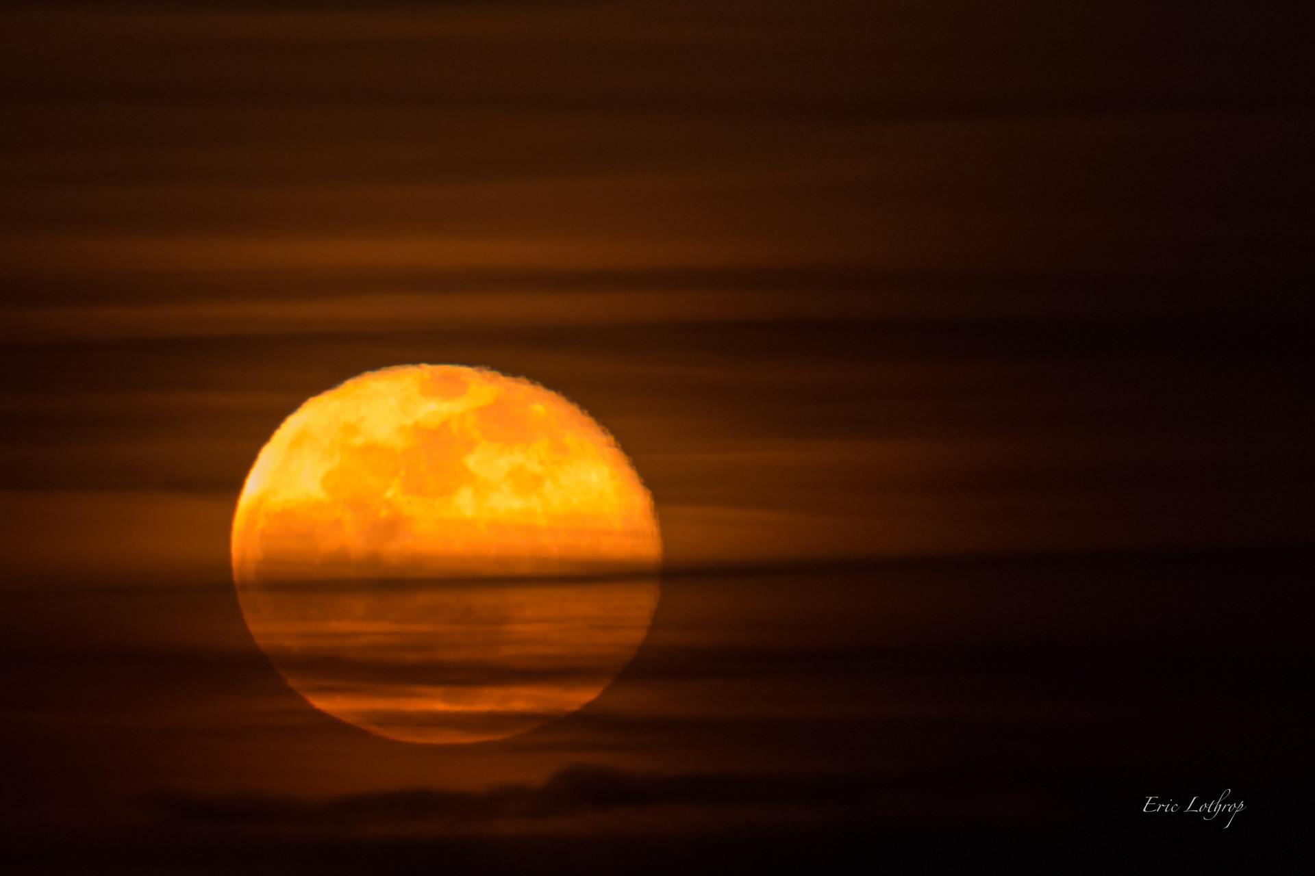 Super Moon Rising Over Nantasket Beach