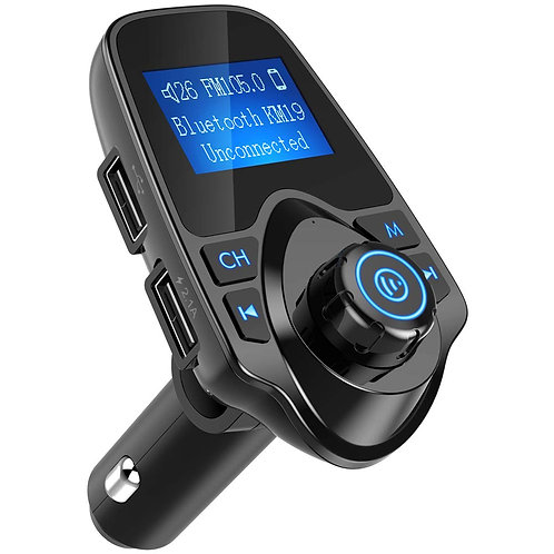 KM19 Black Bluetooth FM Transmitter