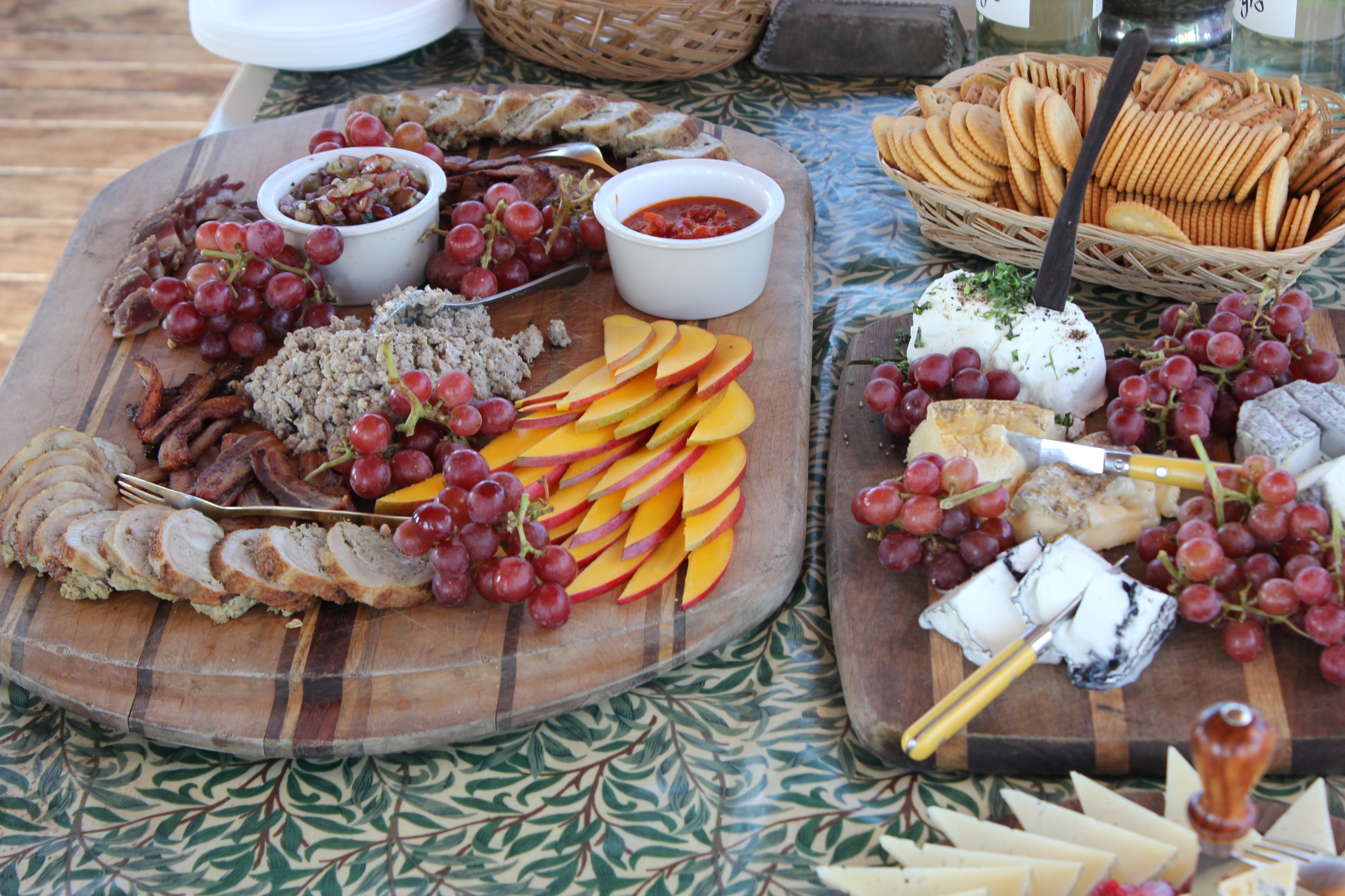 Rustic cheese boards