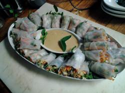 Spring Rolls  with thai peanut sauce