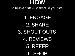 HOW to help Artists, Makers, Musicians & Small Business Owners in your life during these times