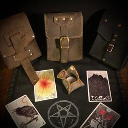 leather tarot pouches