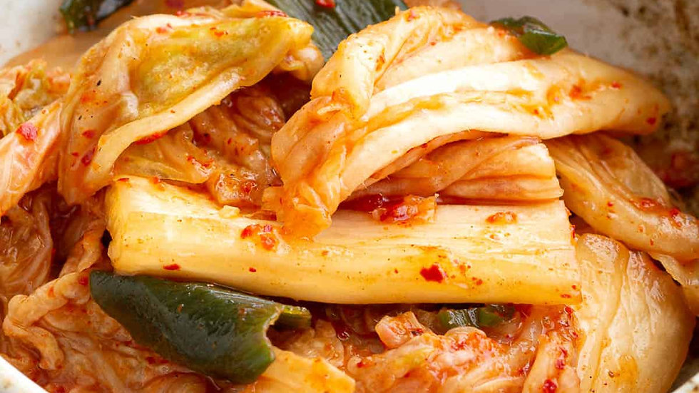 Spicy pickled cabbage (kimchi)