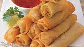 Vegetable spring rolls (8) with sweet dip