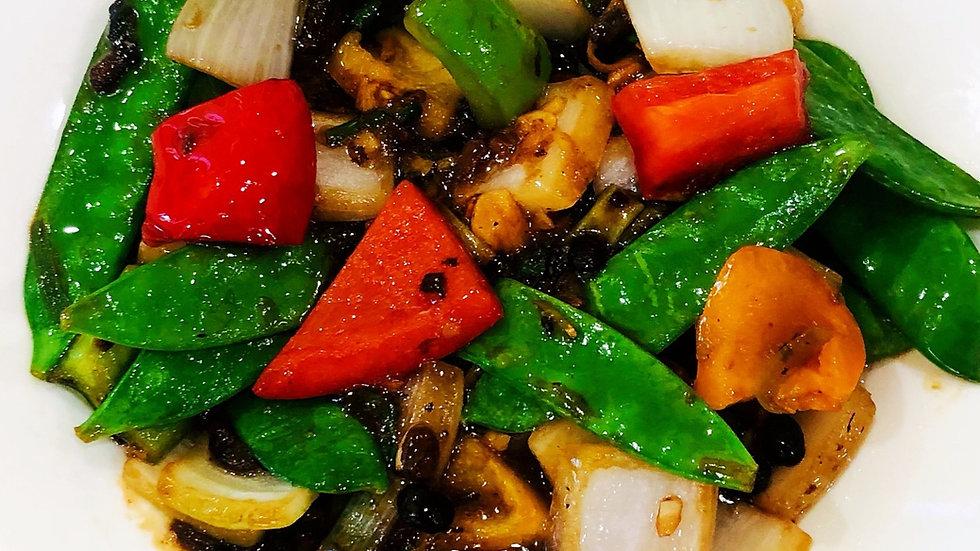 Vegetables in black bean sauce