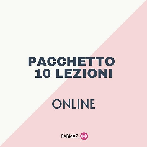 PACCHETTO 10 LEZIONI ON LINE