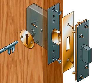 wooden mortice lock