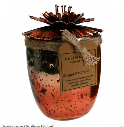 Scented candle 420g Ginger Patchouli