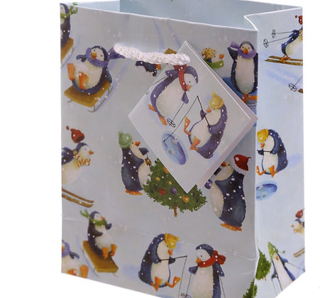 Jan Pashley Christmas Penguin Gift Bag