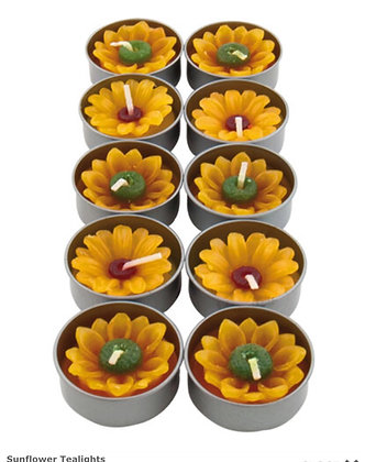 Pack of 10 Sunflower Scented T-Lights