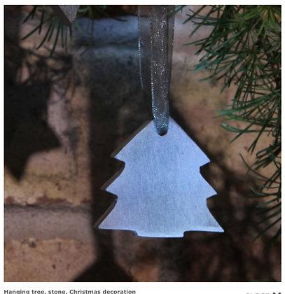 Hanging tree, stone, Christmas decoration