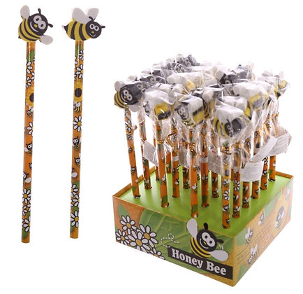 Cute Honey Bee Pencil with Eraser Top