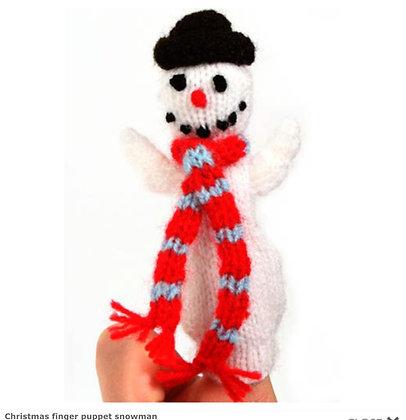 Christmas Finger Puppets - Snowman