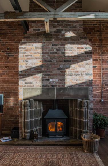 Brick Fireplace