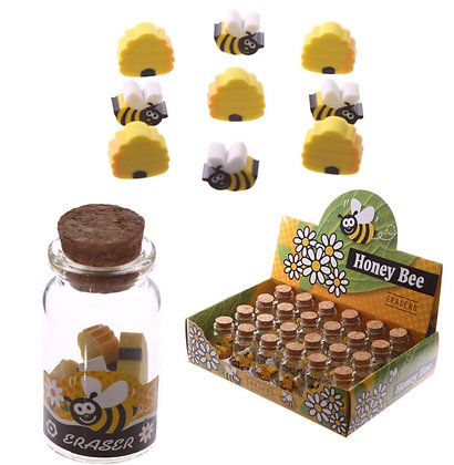 Cute Honey Bee Mini Eraser Pot