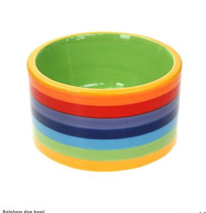 Rainbow dog bowl