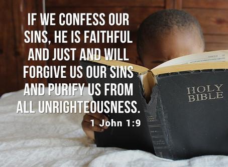 Means of Forgiveness: 1 John 1:9