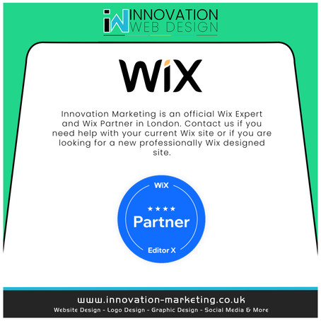 Innovation Marketing Agency is now an official WIX Expert and Wix Partner
