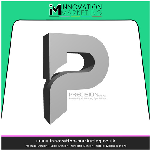 Precision Plastering LTD have made the best first impression with their new 3D logo design