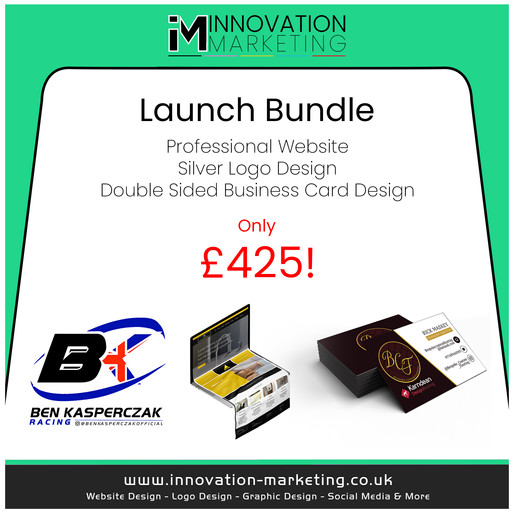 Get your business ahead of your competitors for 2021! With our new Launch Bundle 🚀 For only £425!
