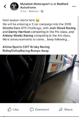 24th November Ginetta GT5 Announcement!