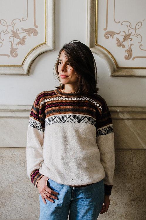 Beig Alpaca Sweater