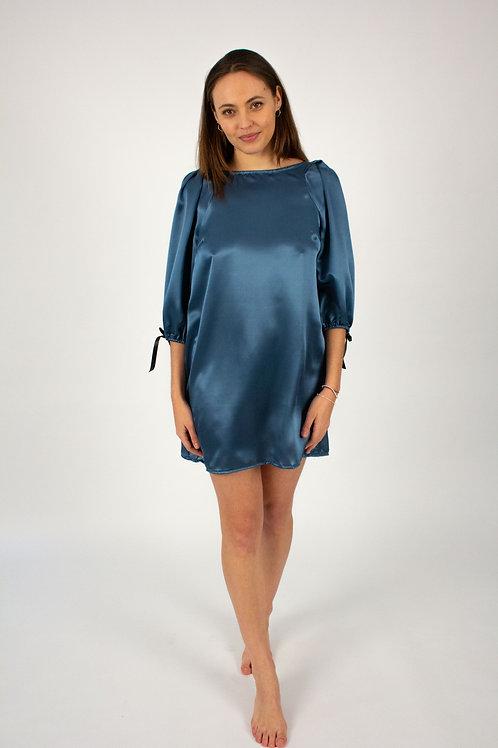 Didi silk blue dress